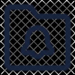Folder bell Icon