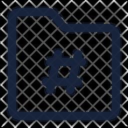 Folder hastag Icon