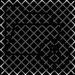 Folder Lock Line Icon