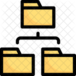 Folder Network Colored Outline Icon
