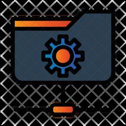 Folder Network Management Icon