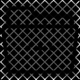 Folder Options Line Icon