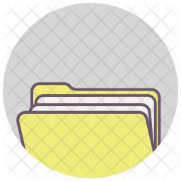 Folder, Paper, Document, Important, Share, Office Icon