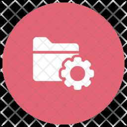 Folder Setting Glyph Icon
