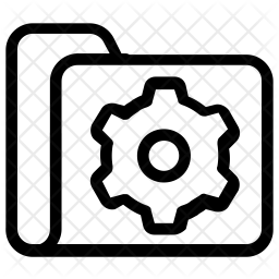 Folder Settings Line Icon
