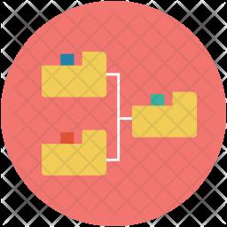 Folders hierarchy Icon