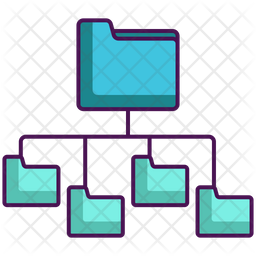 Folders Network Structure Icon