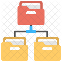 Folders Network Structure Logo Icon