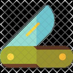 Folding Knife Flat Icon