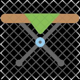 Folding Table Flat Icon