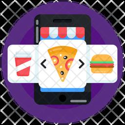 Food App Flat Icon