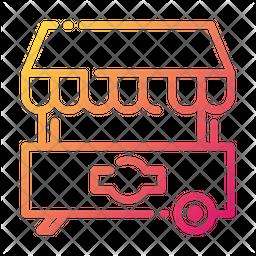 Food Cart Gradient Icon