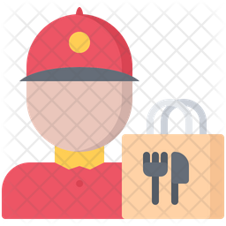Food delivery boy Icon