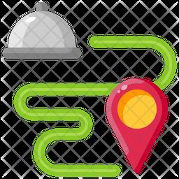 Food Delivery Location Icon