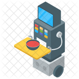 Food Delivery Robot Icon