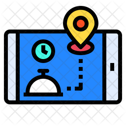 Food Delivery Tracking Icon