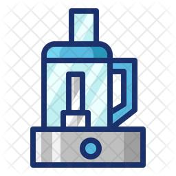 Food Processor Colored Outline Icon