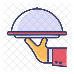 Food Service Colored Outline Icon
