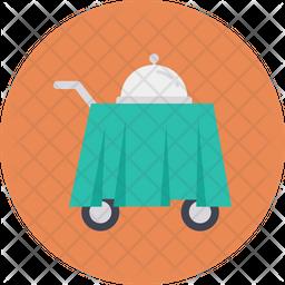 Food Trolley Flat Icon