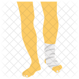 Foot Fracture Icon