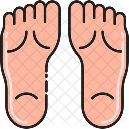 Foot Massage Colored Outline Icon