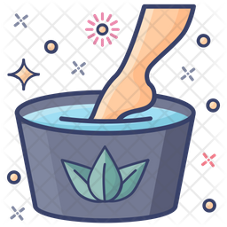 Foot Spa Colored Outline Icon