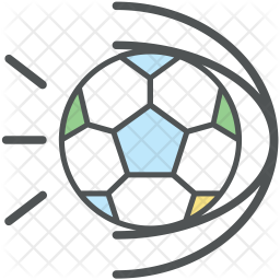 Football Colored Outline Icon