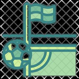 Football Field Corner Icon