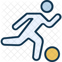 Football Hit Colored Outline Icon