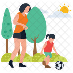 Football Playing in ground Icon