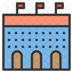 Football Stadium Icon Of Colored Outline Style Available In Svg Png Eps Ai Icon Fonts