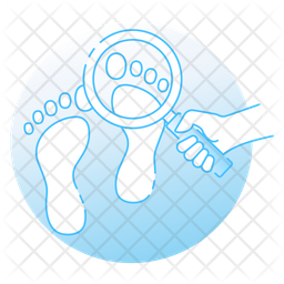 Footprint Colored Outline Icon
