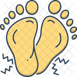 Foots Colored Outline Icon