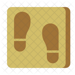 Footsteps Colored Outline Icon