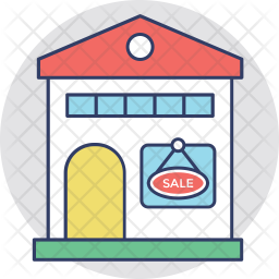 For Sale Colored Outline Icon