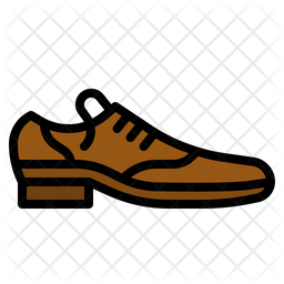 Formal Shoes Colored Outline Icon