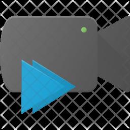 Forward video Flat Icon