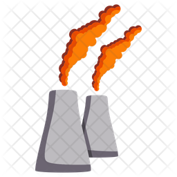 Fossil Fuel Pollution Icon