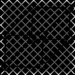 Four Dimensional Square Icon