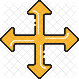 Four Way Intersection Icon