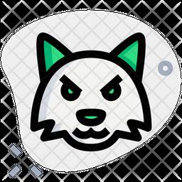 Fox Pouting Emoji Icon