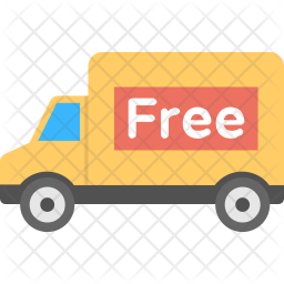 Free Delivery Van Icon
