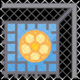 Free Kick Flat Icon