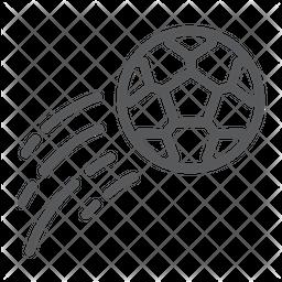 Free kick Line Icon