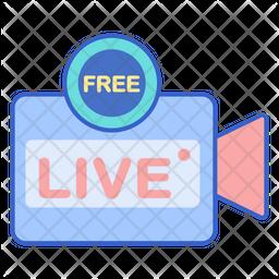 Free Live Stream Icon