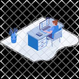 Freelancer Isometric Icon