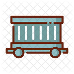 Freight Colored Outline Icon
