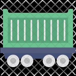 Freight Train Flat Icon