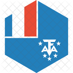 French southern Flag Icon