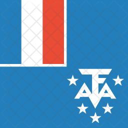 French southern territories Flag Icon